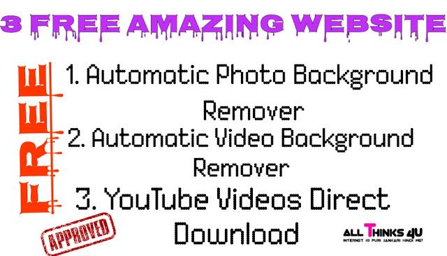 3 Free Amazing Websites - Photo Editor/Video Editor 2020