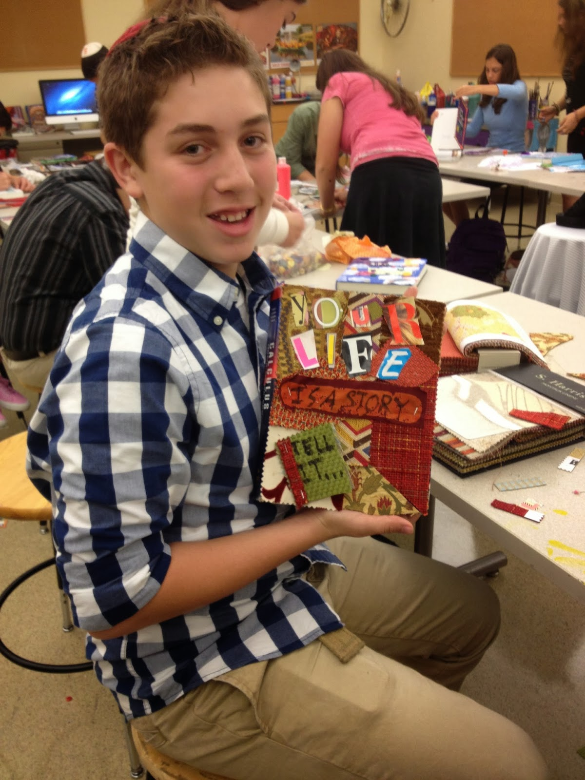 First 9th Grade class working on Altered Book Project