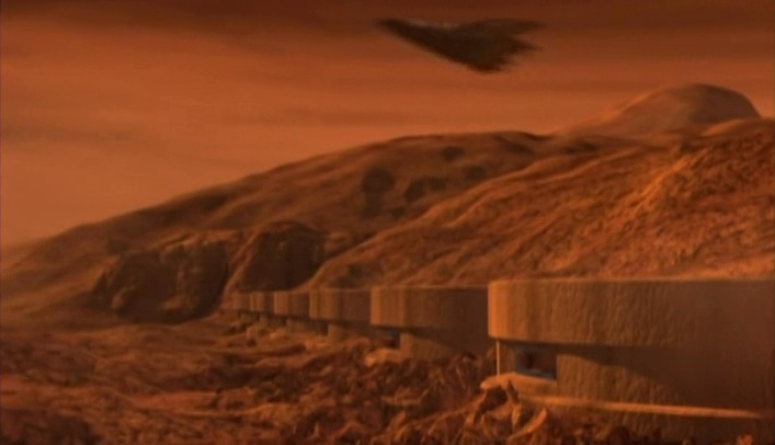 Mars in Babylon 5 - excavation of a Shadow Vessel in Syria Planum