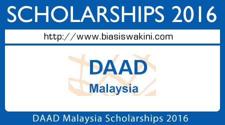 DAAD Malaysia Scholarships 2016