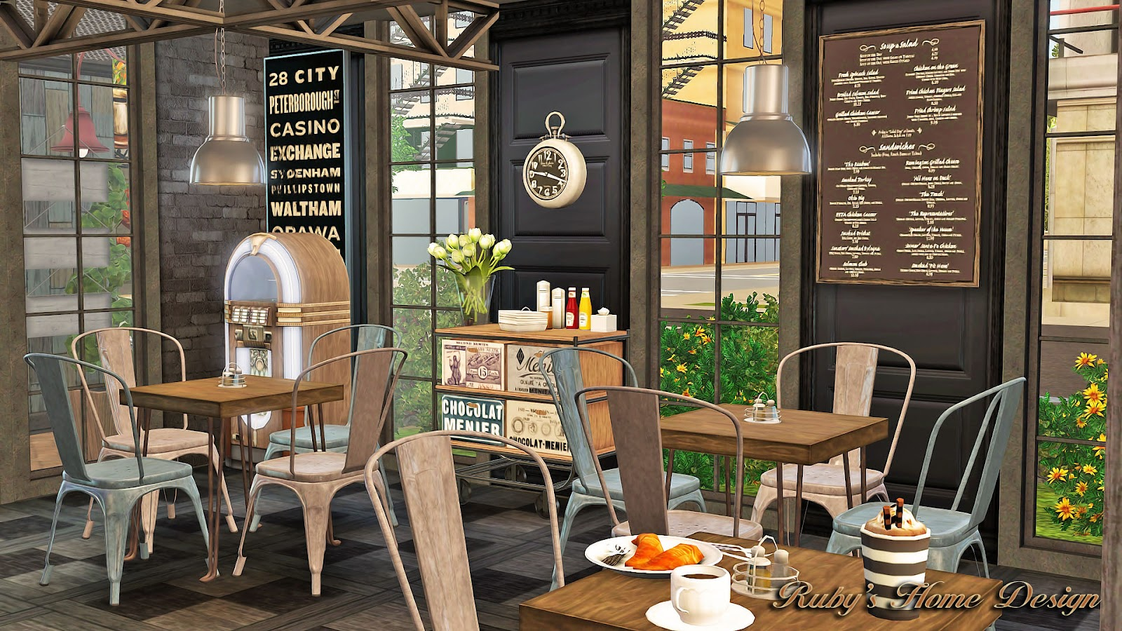 sims3 cafe croissant ruby 39 s home design. Black Bedroom Furniture Sets. Home Design Ideas