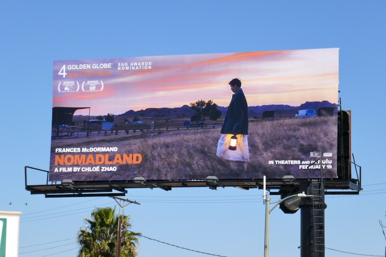Nomadland film billboard