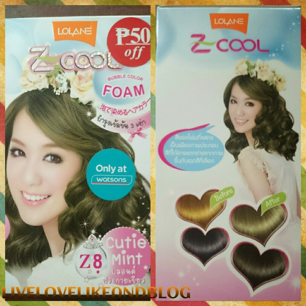 Livelove Like And Blog Bubble Hair Dye Review Lolane Z Cool In