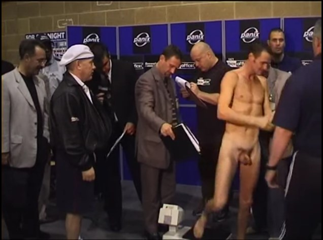 Naked weigh in erection