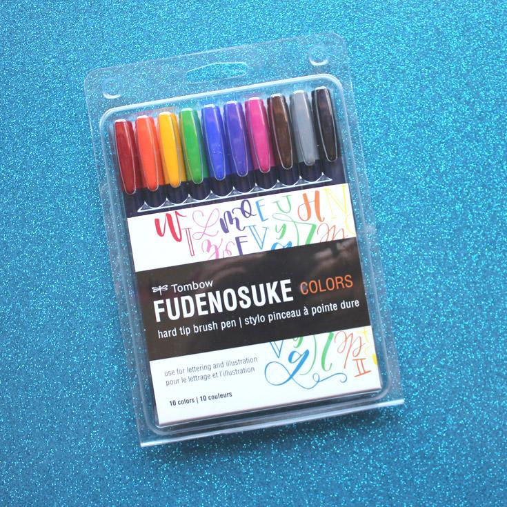 Tombow Fudenosuke Colors Dot Grid Journal Mono Drawing