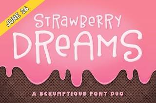 Strawberry Dreams Font Duo