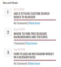 How To Add Stylish Recent Post Widgets To Blogger