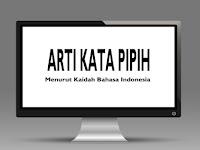 Arti Kata Pipih Menurut Kaidah Bahasa Indonesia di KBBI, dan Wiktionary