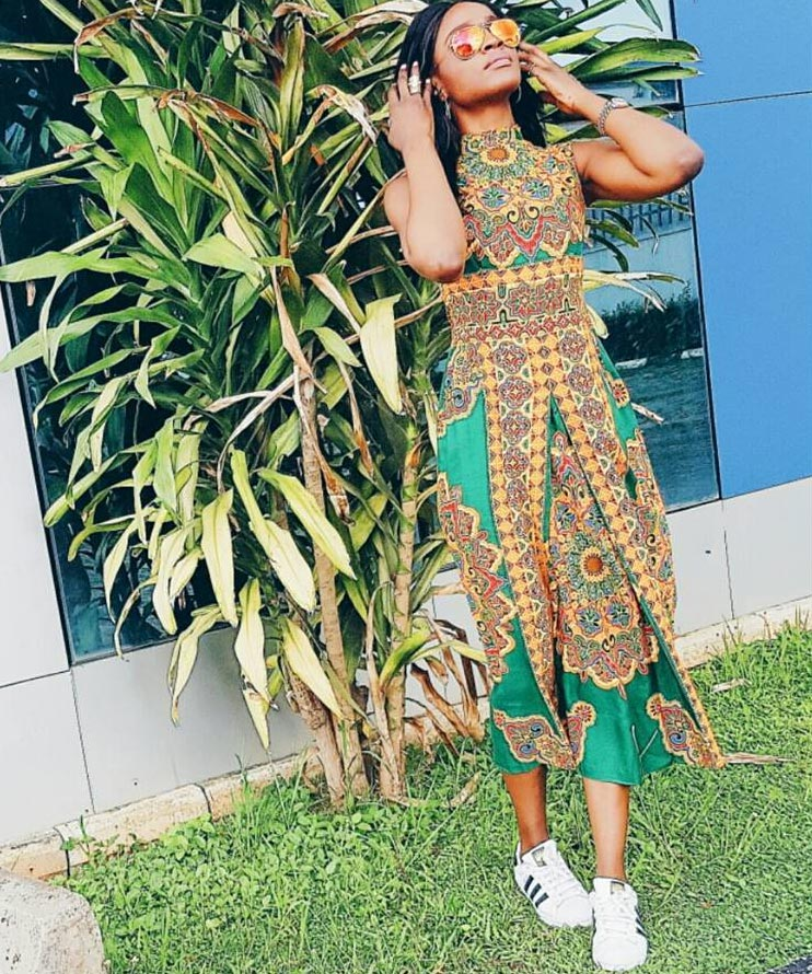 Cool or crappy? Seyi Shay steps out in Ankara dress and sneakers
