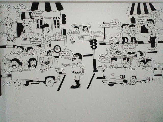 Lukis Mural sederhana