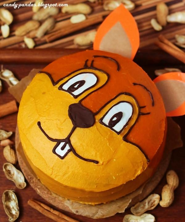 """Tort """"hardkorowa wiewiórka"""", orzechowo-dyniowo-piernikowy (bez glutenu, cukru, laktozy)"""