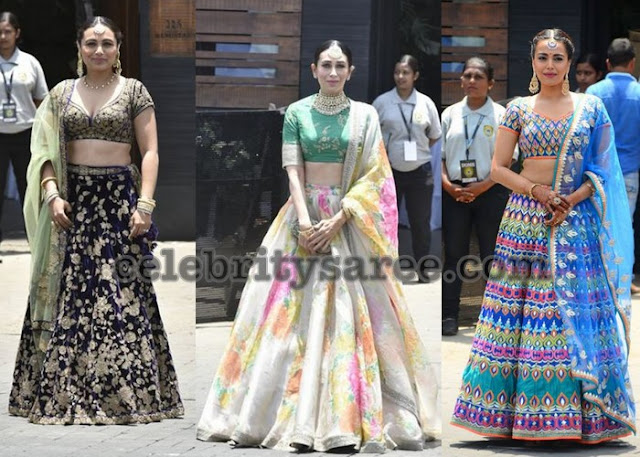 Rani Mukherjee Karishma Kapoor at Sonam Kapoor Wedding