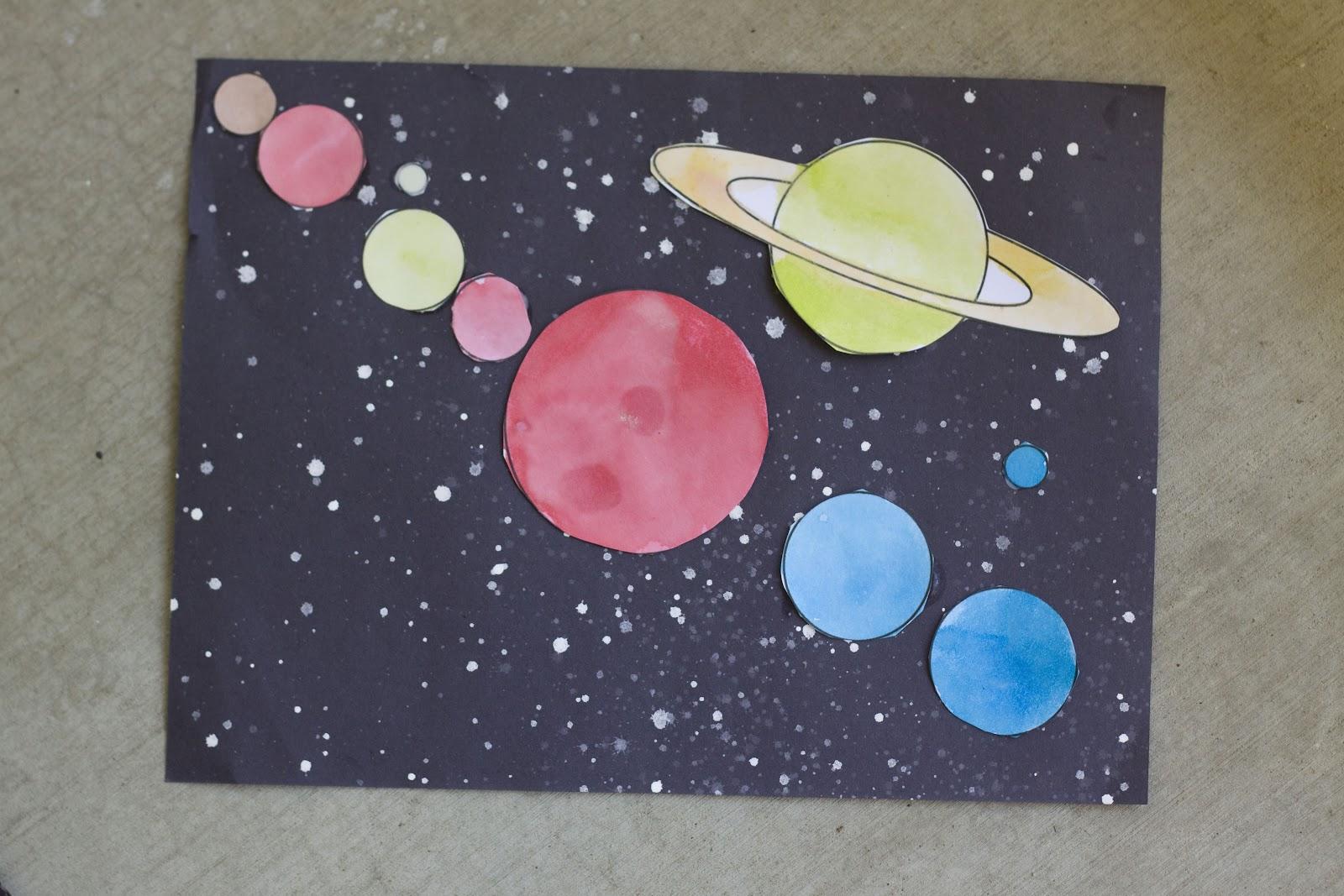 Easy Planet Craft Reading Confetti