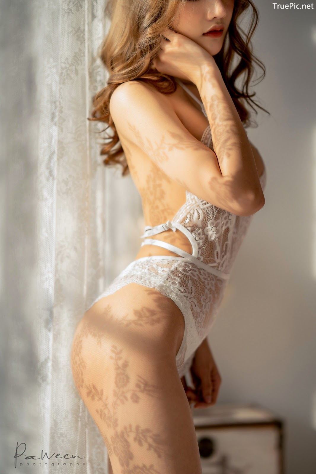 Image Thailand Model - Atittaya Chaiyasing - White Lace Lingerie - TruePic.net - Picture-6