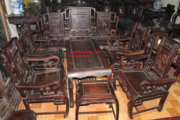 Giá bàn ghế gỗ trắc đỏ bao nhiêu tiền một bộ?