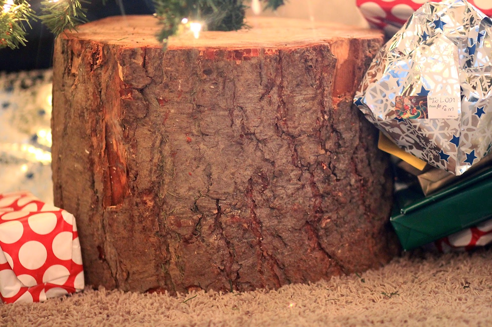How To Make Your Own Tree Stand Watch Out For The Woestmans How To Make Your Own Stump Christmas
