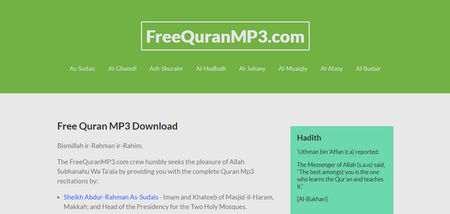 Website Free Quran MP3