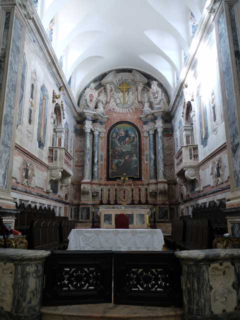 Close up of the altar