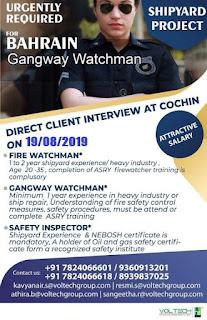 Gangway Watchman for Shipyard Project Bahrain