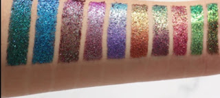 Wicked Sisters Cosmetic Santeria Multi Chrome Eye Shadow Palette