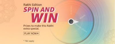Amazon Rakhi Edition Spin and Win Quiz Answer