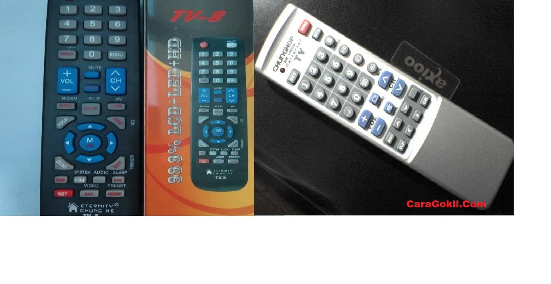 Kumpulan Kode Remot tv chung he tv 8