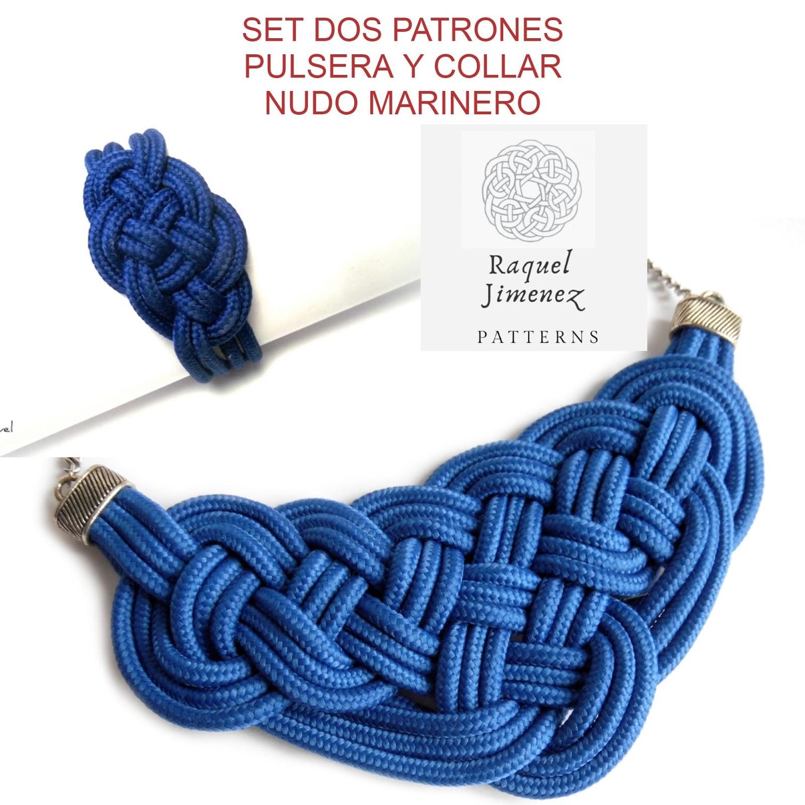 patrones conjunto pulsera y collar nudo marinero