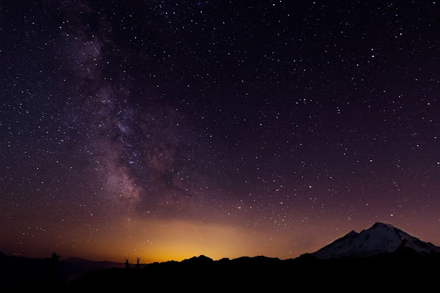 Mount Baker at Night -by Patrick Fore on Unsplash
