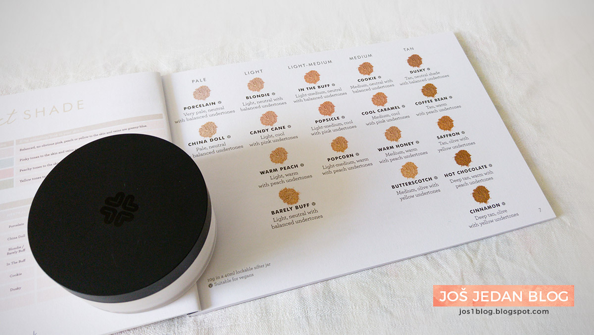Lily Lolo Mineral Foundation shades, review and swatches, Lily Lolo mineralni puder, recenzija, utisci, nijanse