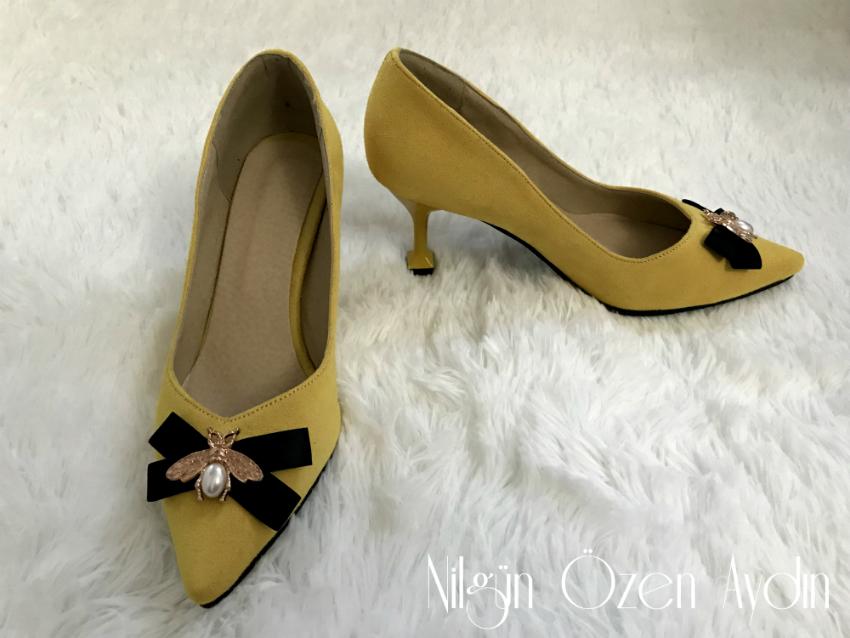 vintage ayakkabı-tokalı ayakkabı