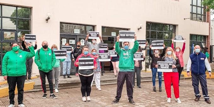Protesta en el Gamen de Trabajadores Autoconvocados de Salud por falta de insumos y aumento salarial
