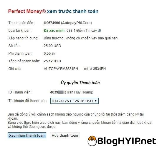 huong dan su dung vi perfect money