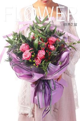 Kertas Buket Bunga / Flower Bouquet Wrapping Paper (Seri SJ)