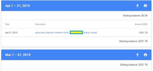 Google Adsense account - first payout
