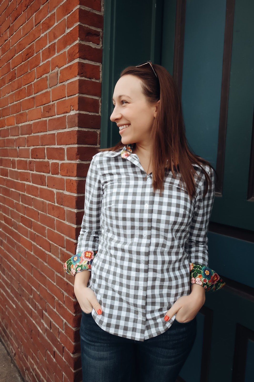 Gingham Button Up - Sewaholic Granville