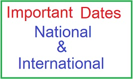Important Days and Dates of 2021 | Important National and International Days and Dates of the year