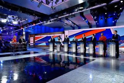 Referência de cenário dos debates eleitorais da CNN americana que será utilizada no Brasil - Divulgação