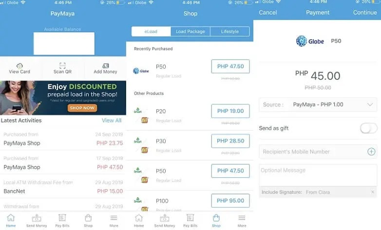 How To Buy Load Using PayMaya