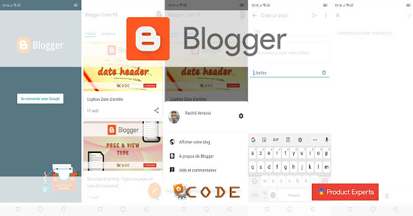 Blogger Code PE - L'application Blogger se met enfin à jour sous Android
