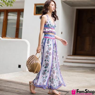 Địa chỉ bán váy maxi đi biển giá rẻ ở Hoàng Mai