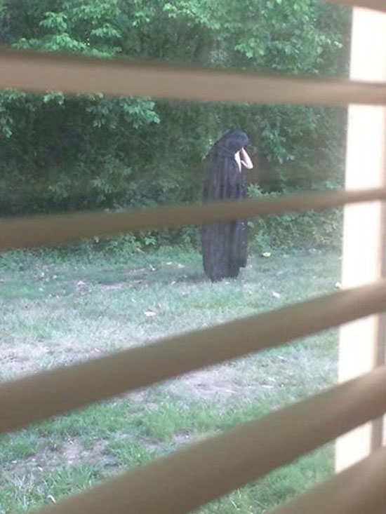 Sinistra figura de capa preta aterroriza condomínio nos EUA - 1