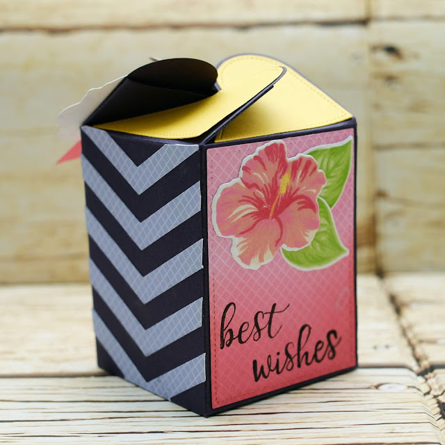 Sunny Studio Stamps: Wrap Around Box Hawaiian Hibiscus School Time Treat Boxes by Rachel Alvarado and Lexa Levana