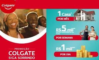 Cadastrar Promoção Colgate 2020 Siga Sorrindo Casa Todo Mês e Prêmios de 5 Mil e 1 Mil