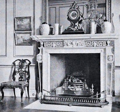 Adam fireplace in the Drawing Room, Hatchlands from The architecture of Robert and James Adam by AT Bolton (1922)
