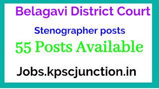 Belagavi District Court Recruitment 2020   Stenographer, Typist & Other Posts   Total Vacancies 55   Last Date 21.01.2020   Apply online @ districts.ecourts.gov.in