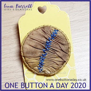 One Button a Day 2020 by Gina Barrett - Day 128 : Smock