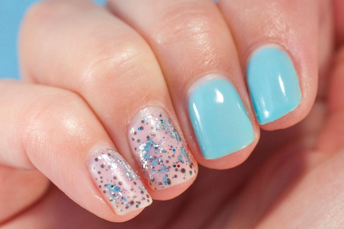 Abstract Blue Gel Nail Art Design