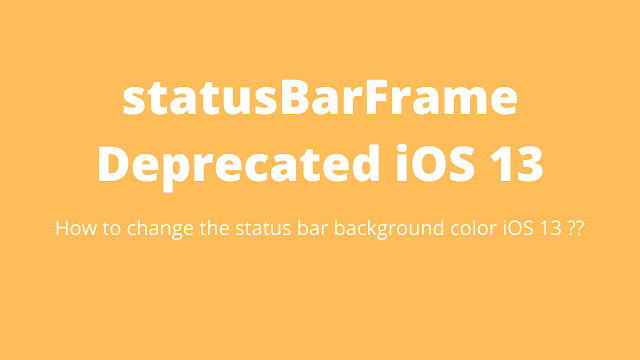 App called -statusBar or -statusBarWindow on UIApplication. Use the statusBarManager object on the window scene instead.