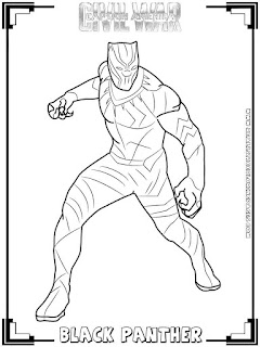 black panther captain america civil war coloring pages