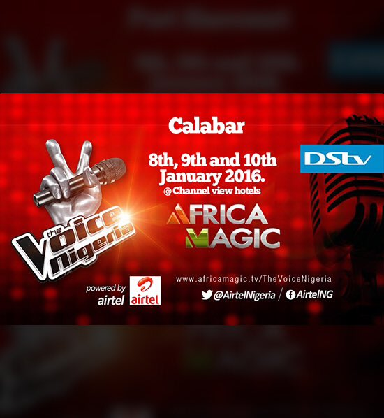 auditioning, Africa Magic, Voice of Nigeria